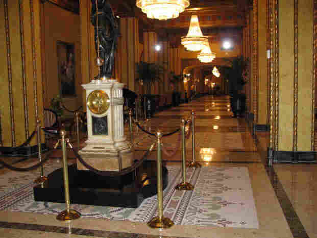 The lobby of the Roosevelt Hotel.
