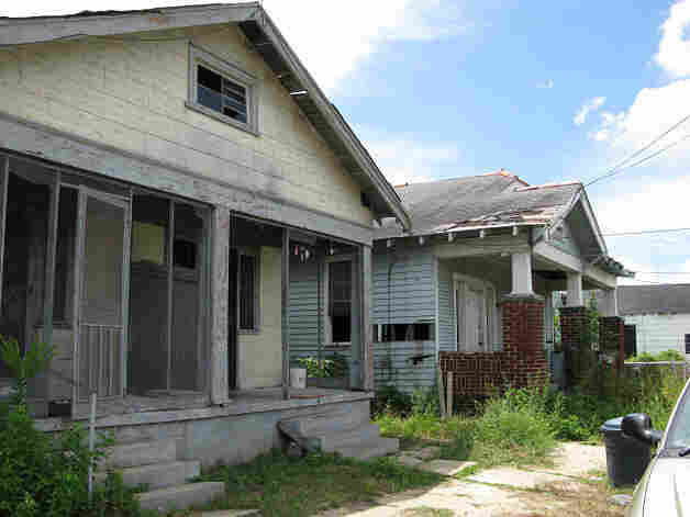 Two abandoned homes in New Orleans