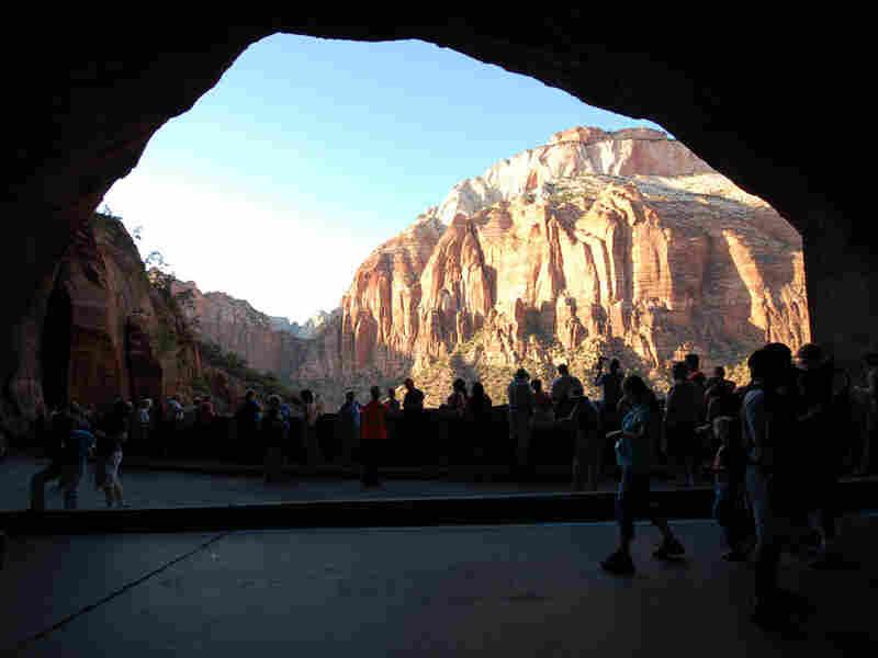 Window in Zion Tunnel