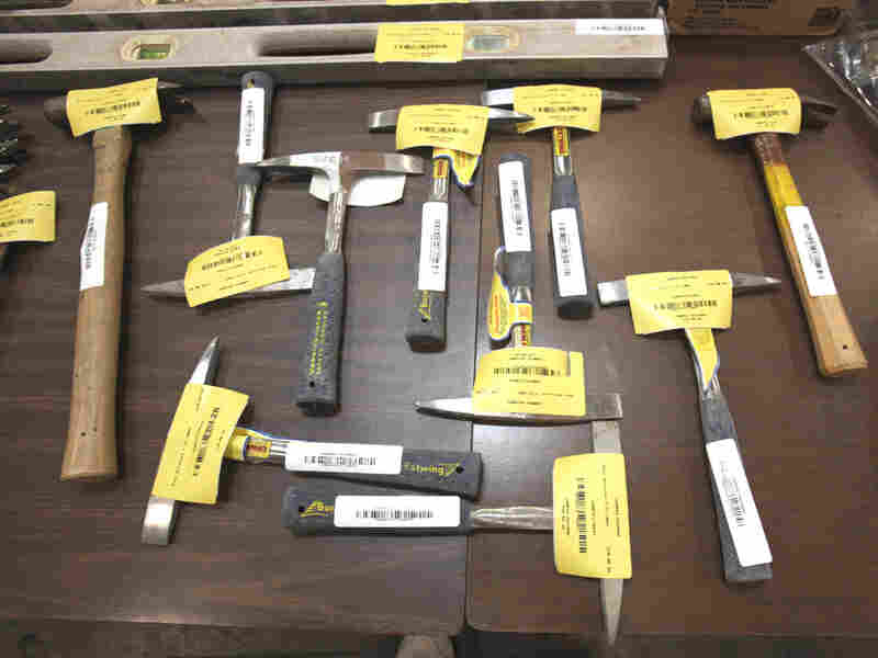 Tools are displayed Tuesday that will be sold during the Great California Garage Sale in Sacramento