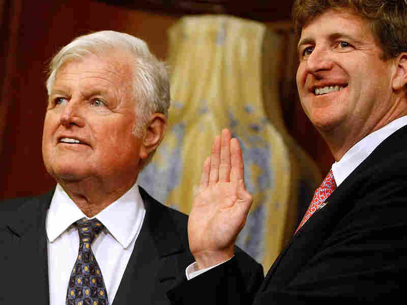 Ted Kennedy and his son, Rep. Patrick Kennedy