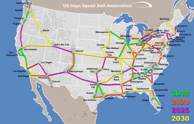Alternative train map