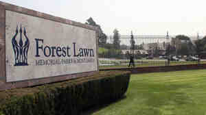Entrance to Forest Lawn. (WIDE)
