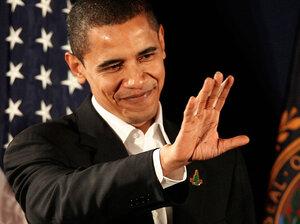 Then Sen. Barack Obama