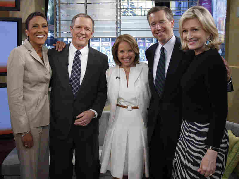 (From left) Robin Roberts, Charles Gibson, Katie Couric, Brian Williams and Diane Sawyer