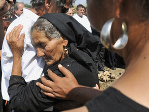 Mother mourns daughter's death in enthnic violence in Hungary.