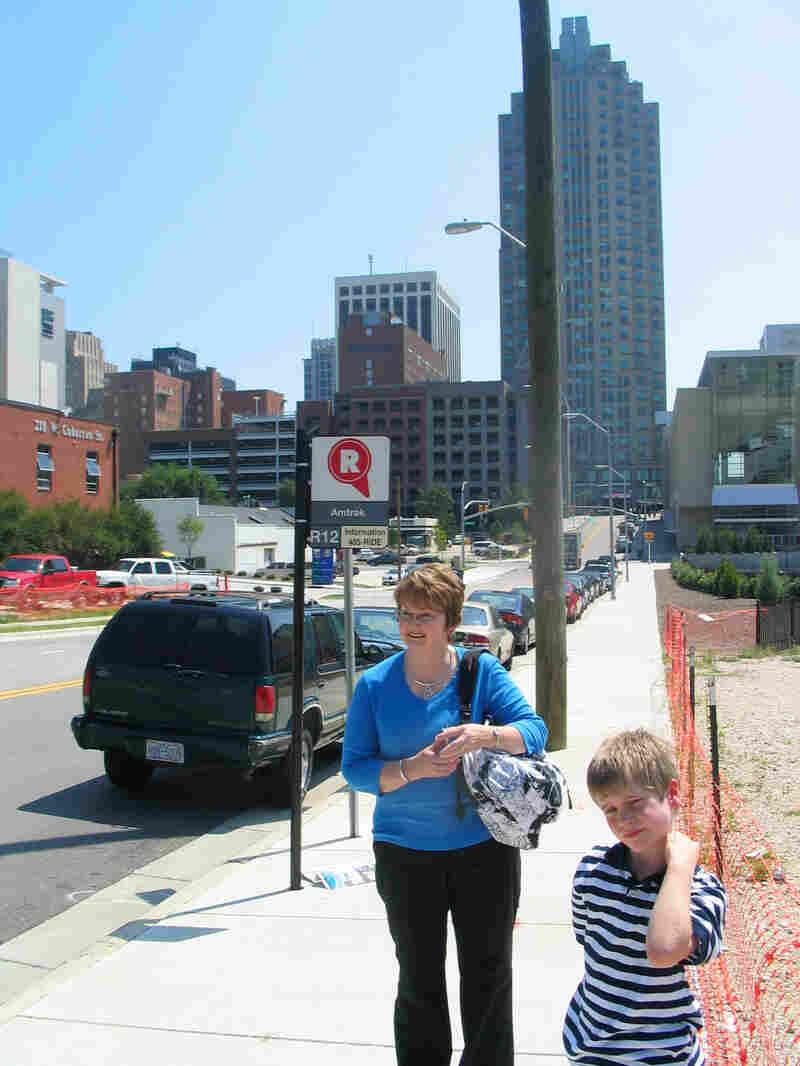 Debbie Hancock and her 8-year-old nephew, Drew Wilson