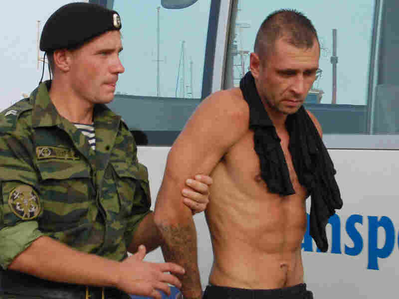 Russian commando with alleged pirate