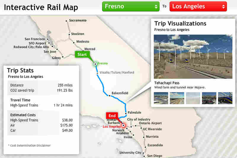 California's proposed high-speed-rail line