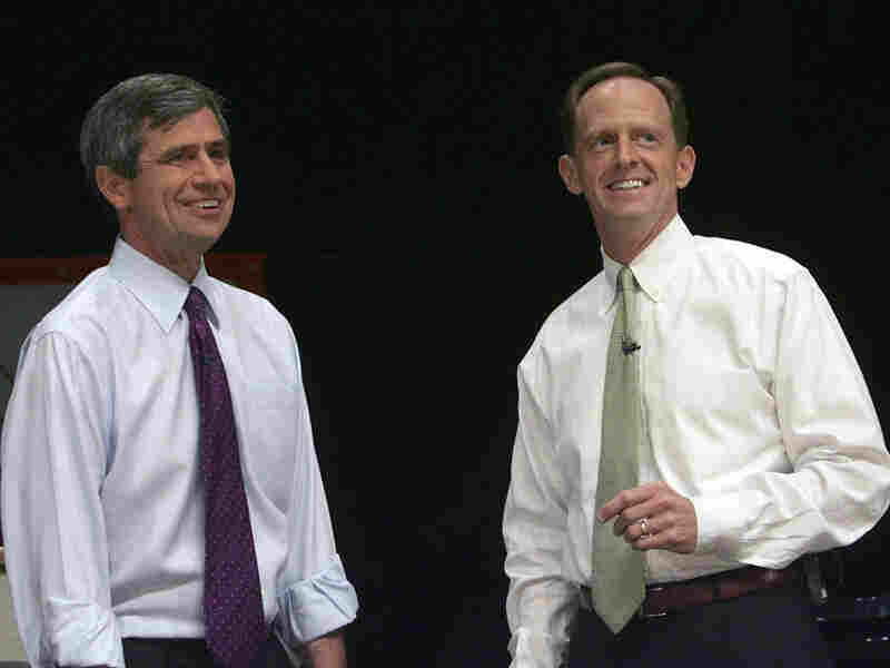 Democratic Rep. Joe Sestak (left) and Republican former Rep. Pat Toomey