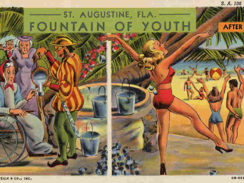 A circa-1940 ad for St. Augustine, Fla., showcases the rejuvenating properties of the area.