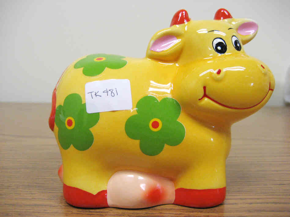 A lead-tainted coin bank. Courtesy KQED