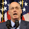 Treasury Secretary Henry Paulson speaks during a news conference.