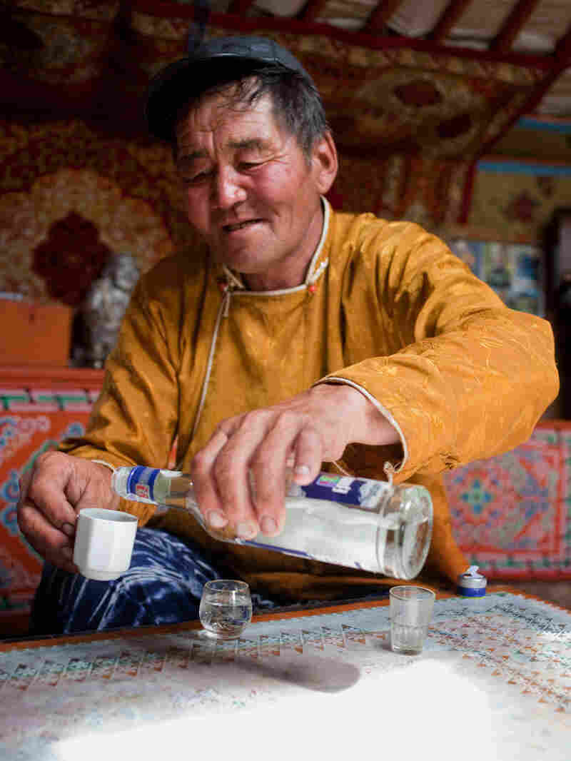 Nomad Munda starts his day drinking vodka