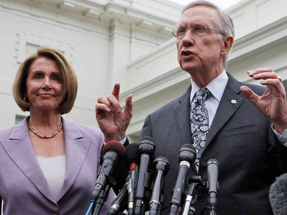 Senate Majority Leader Harry Reid of Nevada and House Speaker Nancy Pelosi of California