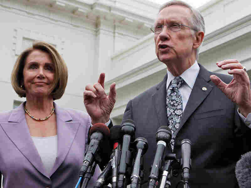 Senate Majority Leader Harry Reid of Nevada and House Speaker Nancy Pelosi of California