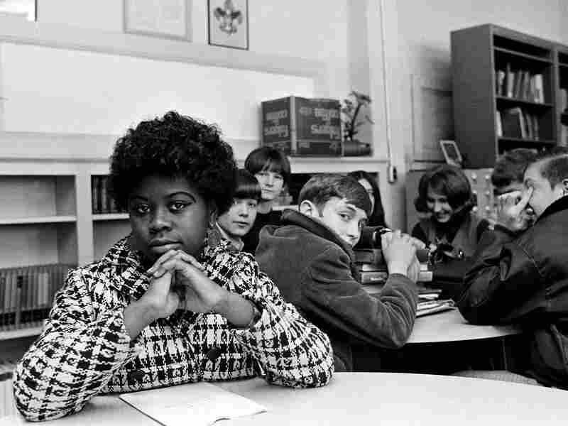 Students sit during a study session at a Mississippi junior high school Jan. 8, 1970.