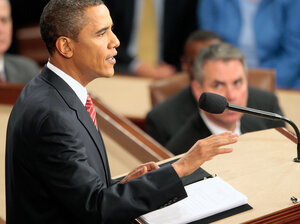 President Obama delivers a speech on health care to a joint session of Congress