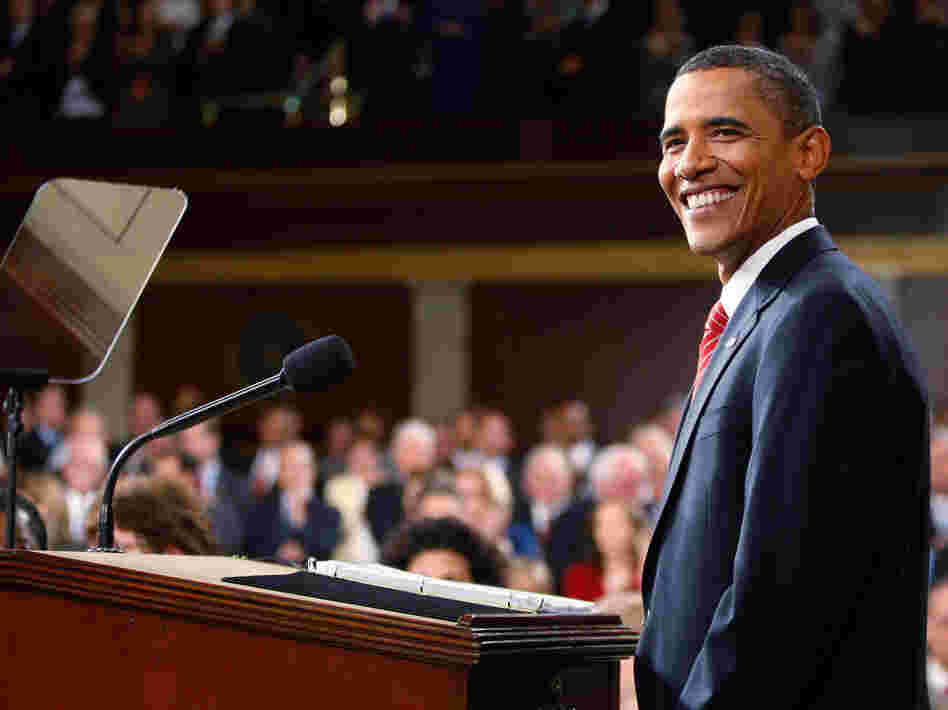 President Obama pauses during his health care speech to a joint session of Congress at the Capitol