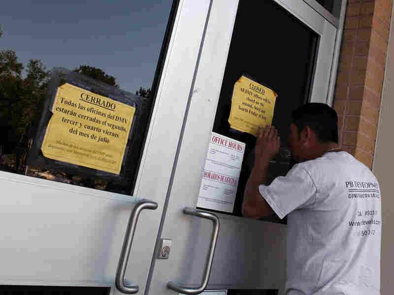 A closed DMV branch in Corte Madera, Calif.