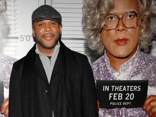 Tyler Perry attends the premiere of <em>Tyler Perry's: Madea Goes to Jail</em> in New York in February 2009.