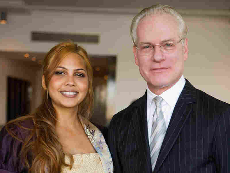 Isabel Estevez poses with Tim Gunn.