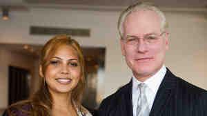 Isabel Estevez poses with Tim Gunn.