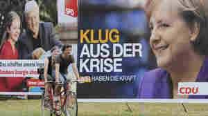 WIDE: Election posters of German Chancellor Angela Merkel (R) and challenger Frank-Walter Steinmeier