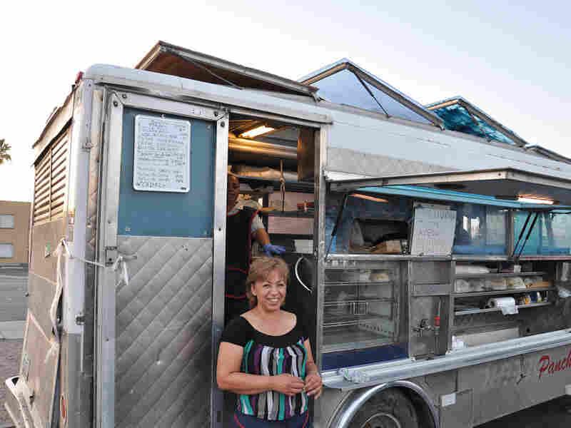Georgina Escamilla in front of her food truck, Panchita's. Jesse Shapins