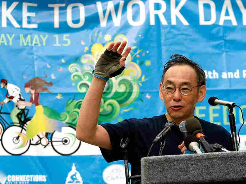 Steven Chu's efforts to curb U.S. energy consumption included  Washington, D.C.'s Bike To Work Day.