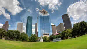 Houston's downtown skyscrapers