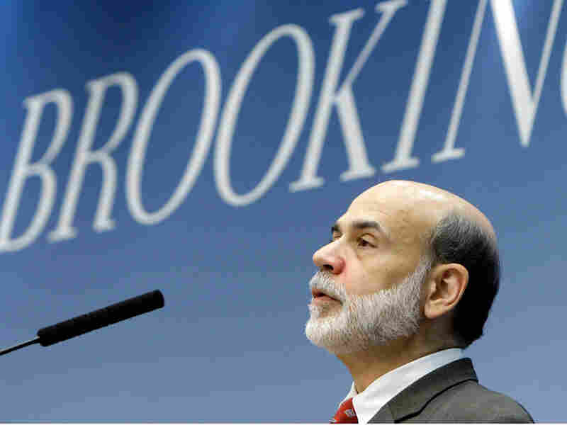 Federal Reserve Chairman Ben Bernanke speaks Tuesday at the Brookings Institution in Washington.