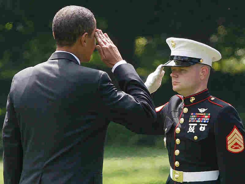 Solider Soluting Obama