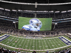 In case youve missed it, the TV screens at the new Dallas Stadium are, well, fucking huge!
