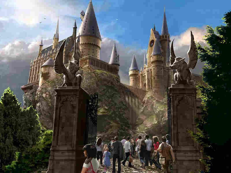 A rendering of Hogwarts Castle.