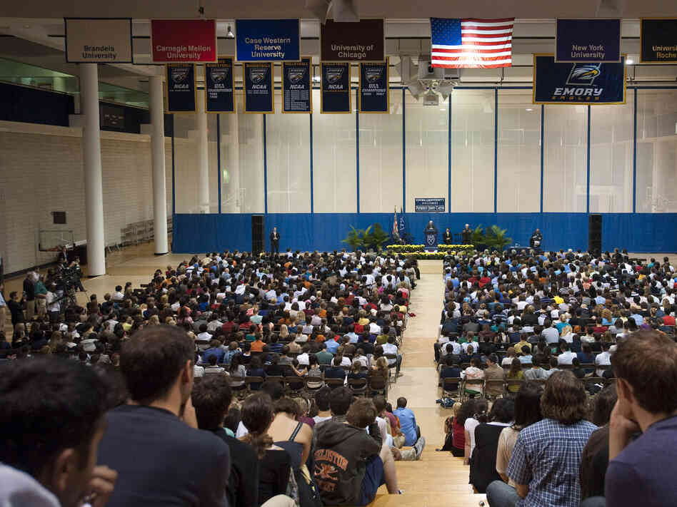 President Jimmy Carter speaks at Emory University in Atlanta,