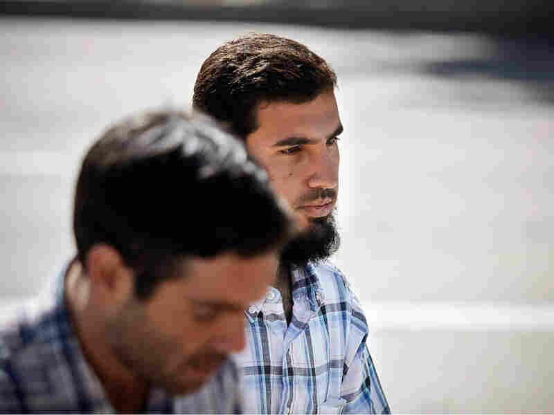 Najibullah Zazi, 24, arrives at the federal building in downtown in Denver