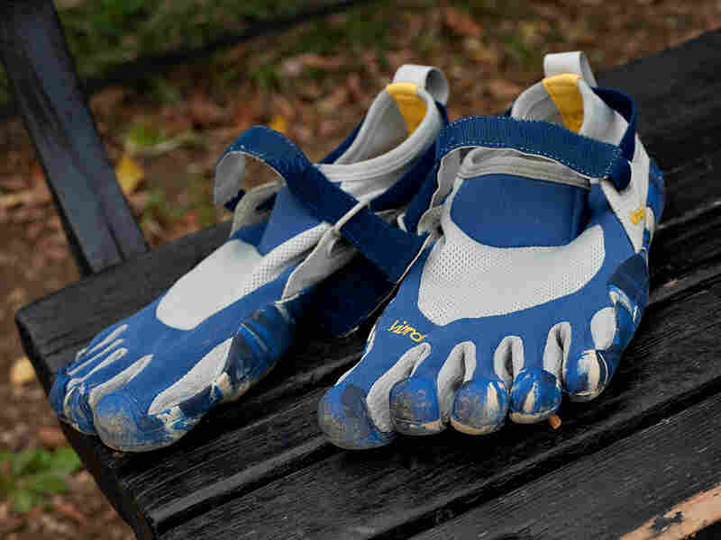 Vibram FiveFingers running shoes, road-tested by host Guy Raz. Ryan Gibbons/NPR