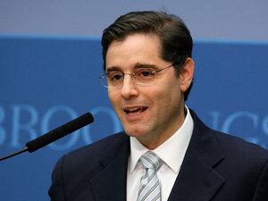FCC Chairman Julius Genachowski speaks at the Brookings Institution in Washington, D.C.
