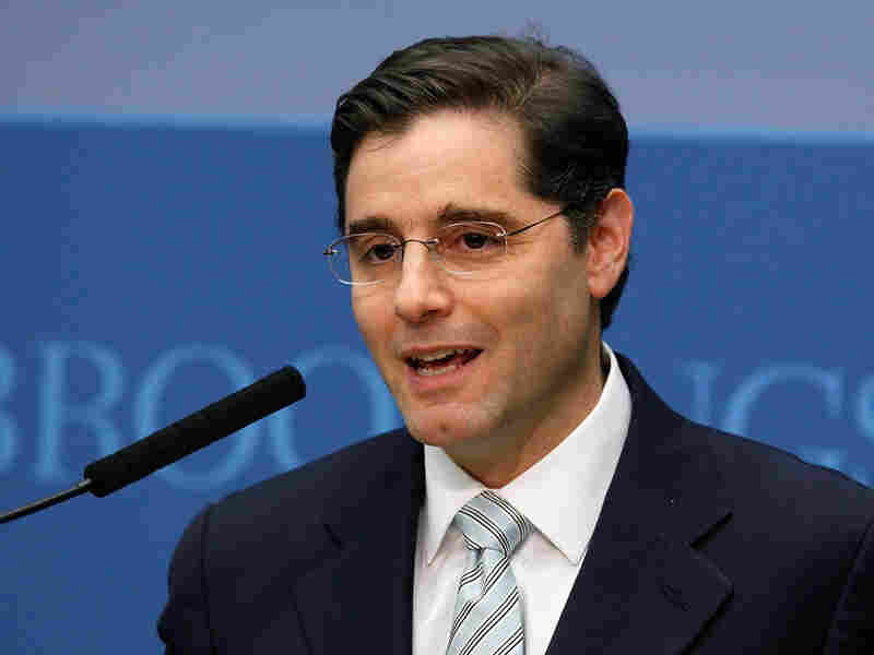 FCC Chairman Julius Genachowski speaks at the Brookings Institution in Washington, D.C.