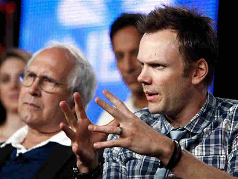 Chevy Chase and Joel McHale of 'Community'