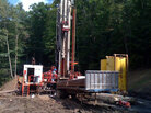 4:3 Digging a shallow natural gas well in Clarksburg, W. Va.