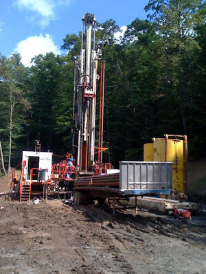 Custom image: Digging a shallow natural gas well in Clarksburg, W. Va.