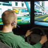Driving simulator in University of Utah's Applied Cognition Laboratory
