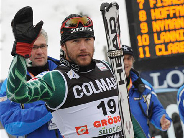 Bode Miller looks on after falling out of the first run of the Men's World Cup slalom race in Alta Badia, Italy, in December. Miller announced his return to the U.S. Ski Team, and possibly the Olympics, on Thursday.
