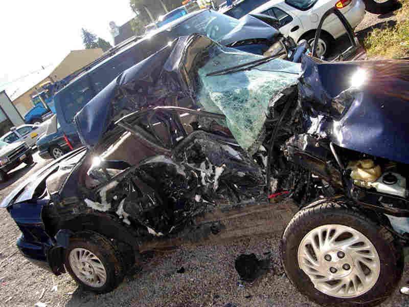 The Saturn sedan Reggie Shaw crashed into in 2006. He was texting while driving.