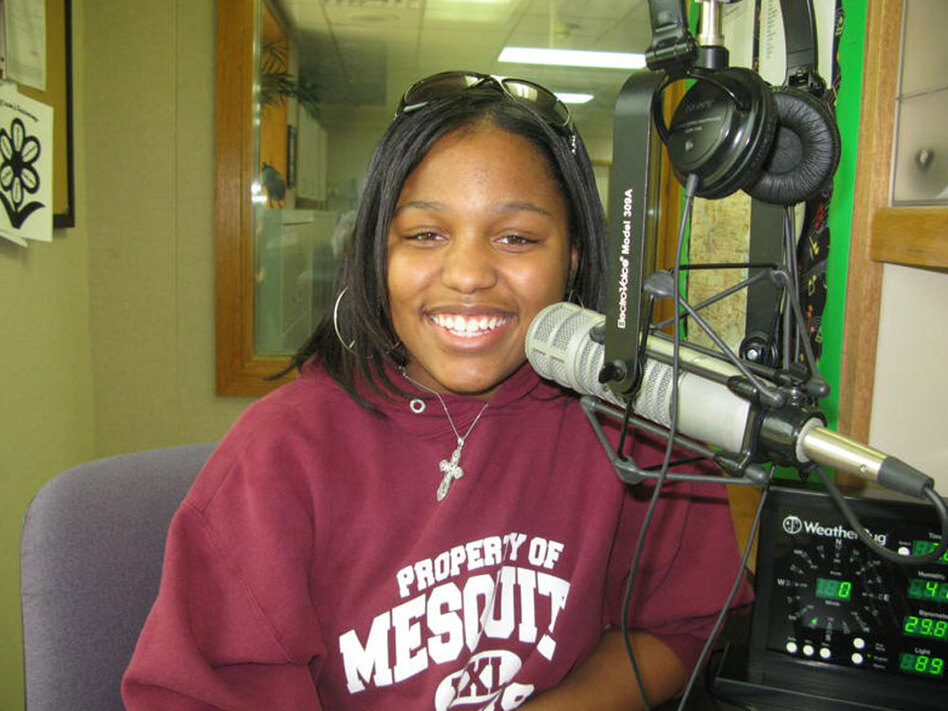 Lauren Green is one of several student DJs at KEOM. The Dallas-area radio station recruits teens to broadcast 1970s music to more than 200,000 listeners daily.