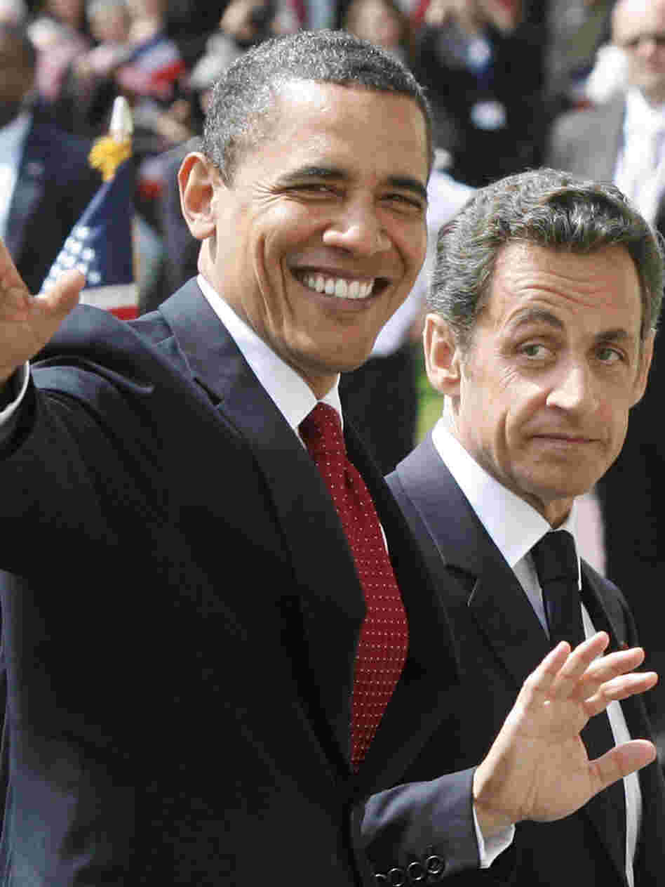 President Obama and French President Nicolas Sarkozy