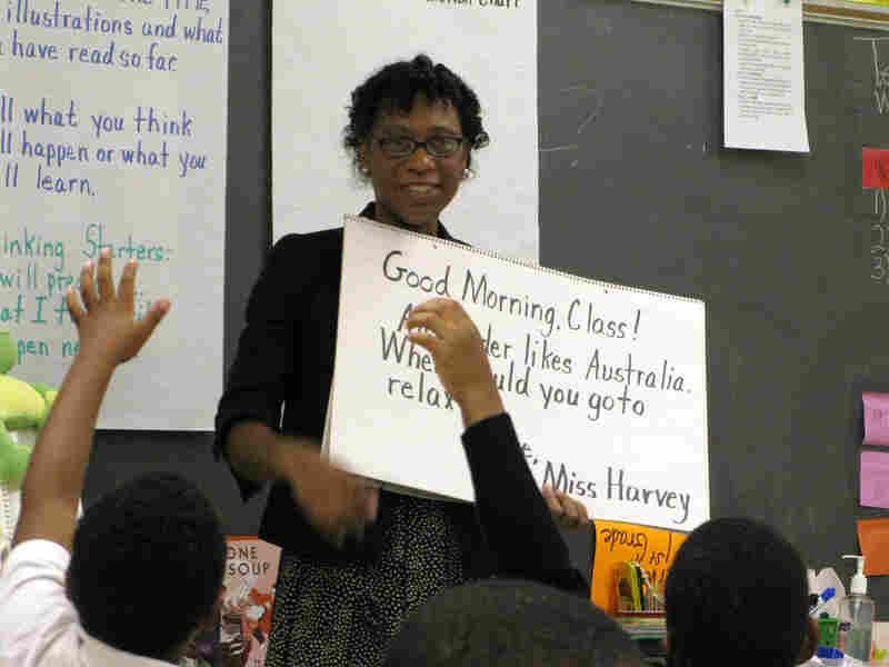 Banker turned teacher Beverly Harvey