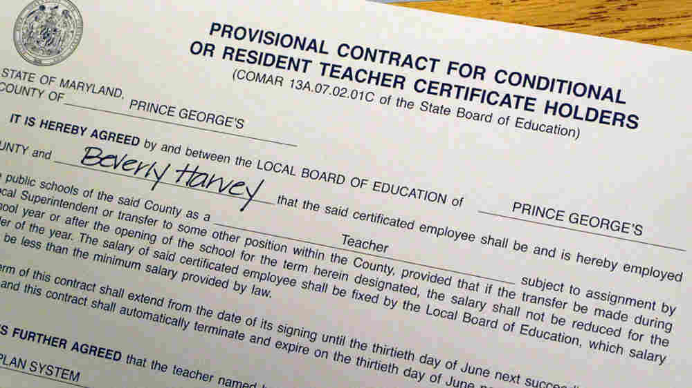 Beverly Harvey's contract with Prince George's County School District